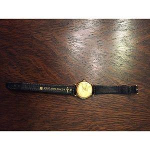 Gruen Accessories - Gruen Swiss Sapphire Crystal 18k Plated Watch
